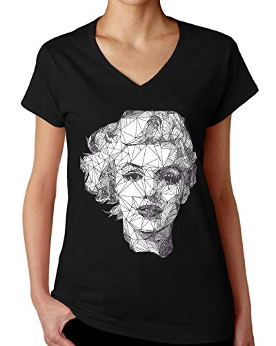 ShutUp Co. Marilyn Monroe Camiseta con Cuello de Pico para Mujer XX-Large