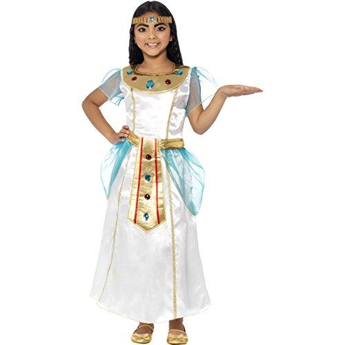 Costume de Cléopâtre déesse égyptienne costume pour enfant S 5-7 ans 110-128 cm Robe de Cléopâtre reine d'Égypte bijoux Antiquité costume de pharaon déguisement de déesse costume de pharaon enfant déguisement petite fille carnaval
