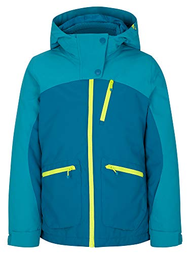 Ziener Mädchen ANTALIA Junior Kinder Skijacke, Winterjacke | Wasserdicht, Winddicht, Warm, Steel Blue, 116