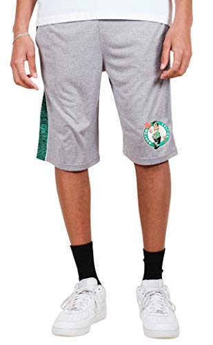 Ultra Game NBA Boston Celtics Men's Mesh Athletic Active Basketball Shorts, Heather Gray, Large