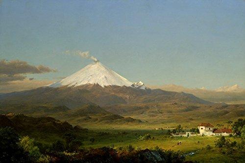 Berkin Arts Frederic Edwin Church Giclée Leinwand Prints Gemälde Poster Reproduktion Große Größe(Cotopaxi 1)
