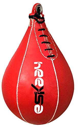 Eskaay Leather Workout Speed Bag Punching Bag Speedball Punch Kick Bag