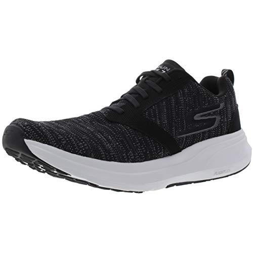 Skechers Go Run Ride 7, Zapatillas Deportivas para Interior para Hombre, Negro (Black/White), 45 EU