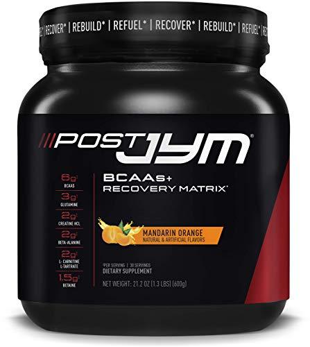 Post JYM Active Matrix - Post-Workout with BCAAs, Glutamine, Creatine HCL, Beta-Alanine, and More | JYM Supplement Science | Mandarin Orange Flavor, 30 Servings
