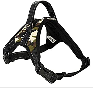 Adjustable Large Dog Vest Harness for Dogs Animals Pet Walking Camouflage Oxford Fabric