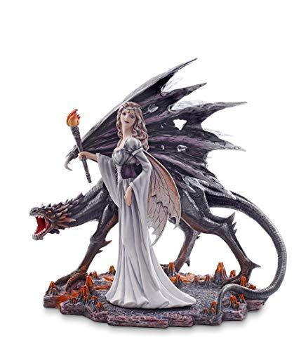Les Alpes Orig. Fata Lara, 32,5cm, Collezione Fairy Land - Statuetta Figura Dipinta a Mano - Scopri la magia - 042 711