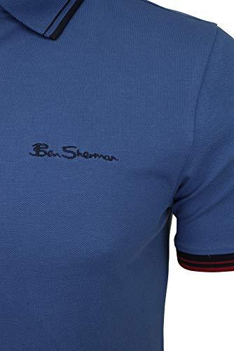Ben Sherman Signature Polo, Blu (Blue 150), X-Large Uomo