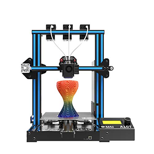 Tooart 3D Printers,A10T Desktop 3D Printer Fast Assembly Support Mix-Color Printing with GT2560 Control Board Resume Printing Filament Detection Function 220 * 220 * 250mm Build Volume