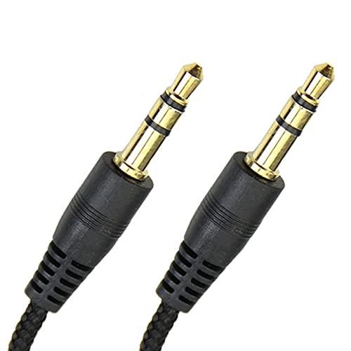 Cable de audio 2/3 / 5M Nylon Braid Jack 3,5 mm Cable de audio Macho 3,5 mm Estéreo Auxiliar Cable M / m Cable de auriculares for iPhone Automóvil de altavoz Auricular MP3 / 4 Cómoda y práctica transm