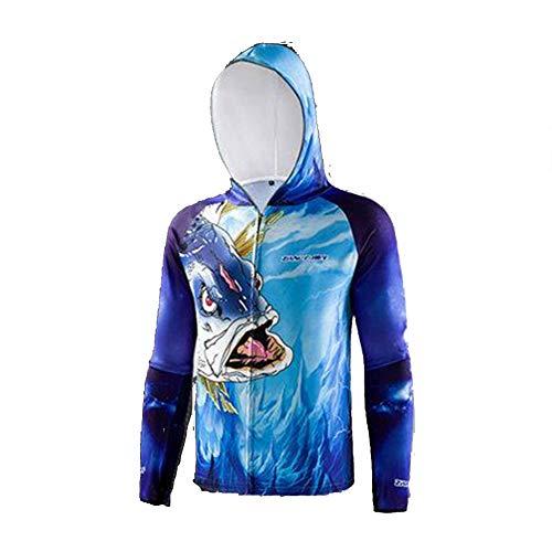 LILI Vêtements De Protection Solaire pour Hommes Pêche sur Glace en Soie Pêche D'été Respirant Ultra-Mince Anti-Moustique Vêtements De Pêche Costume Vêtements De Protection Solaire,XL