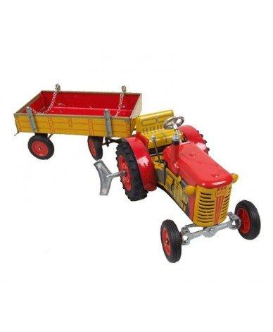 KOVAP Zetor Traktor, mit Anhänger, rot
