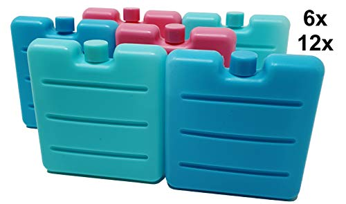 Pilix Kühlakku Mini 6X | 7,5 x 7,5 x 1,5 cm | Ideal für Lunchbox, Brotdose, Kühlbox, Icebox, Kühltüte und Kühltasche | unterwegs Immer gut gekühlt | Kühlelement | Kühlakku klein