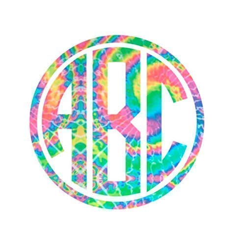 Personalized Circle Monogram Initials Sticker Rapid rise Decal Yeti Cup for SEAL limited product