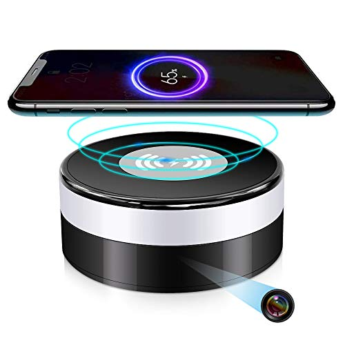 Hidden Spy WiFi Camera in Wireless Charger with 160°Viewing Angle,UOOYOO Nanny Cams,Wireless Security Secret Cameras Phone App,HD 4K,Motion Activated for Home Offices Store