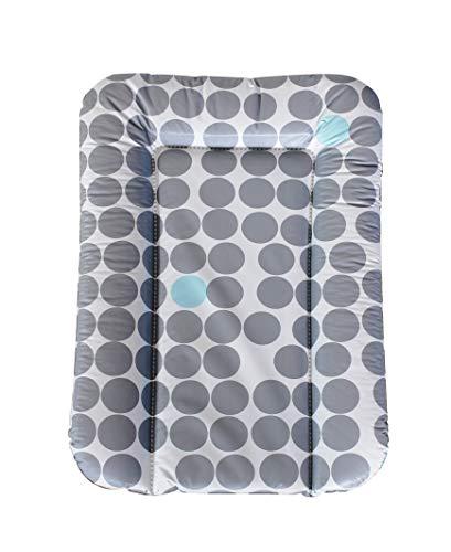 Geuther Matelas à Langer souple, coloris: Pois gris et bleu - 52 x 75 cm