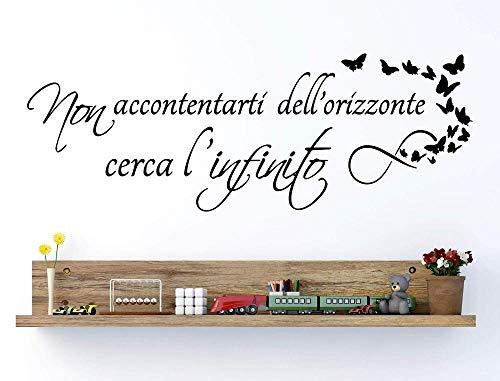 Italia Adesivo Murale Frase Citazione Wall Stickers Adesivi Murali - non accontentarti dell'orizzonte,cerca infinito 42 * 100cm
