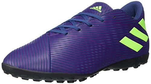 adidas Men's Nemeziz Messi 19.3 TF Sneaker, Indigo/Green/Purple, 13.5 M US