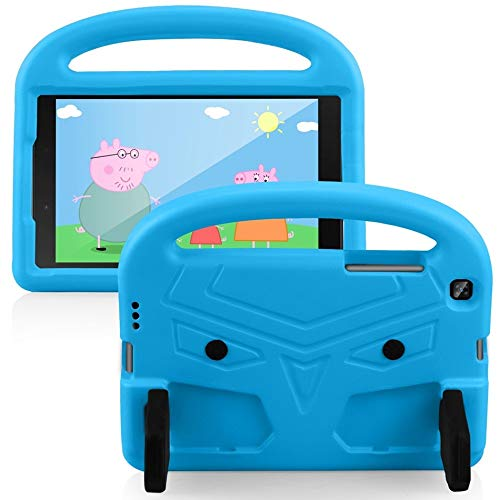 RZL Pad y Tab Fundas para Samsung Tab A 8,0 SM-T290, la Tableta niños Choque Cubierta a Prueba de Espuma EVA de Mano Cubierta del Soporte para la lengüeta A 8,0 2019 T295 (Color : Blue)