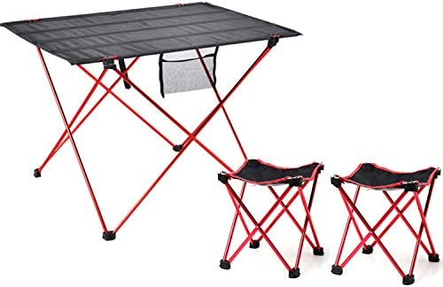 Camping table and chairs set