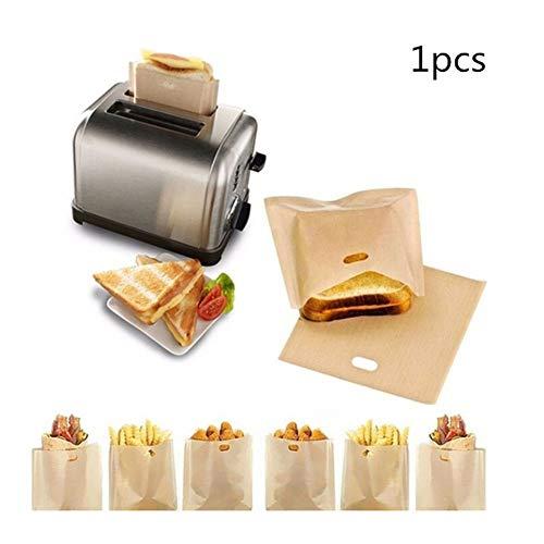 Redcolourful 1 Stücke Wiederverwendbare Toaster Tasche Hitzebeständige Antihaft Mikrowelle Tasche für Sandwiches Toaster 16x16.5cm Hohe Qualität