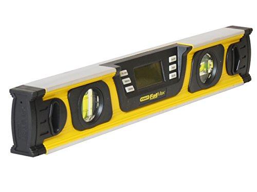Stanley FatMax Neigungsmesser (digitale Wasserwaage in Grad|Prozent mm/m, 40 cm Länge, LCD-Anzeige) 0-42-063