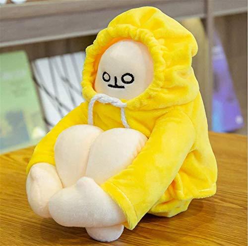 Gefüllte Tiere & Plüschtiere Plüschtiere Plüsch Spielzeug Weiche Plüsche Niedliche Koreanische Heilung Plüschtiere Squating Banane Emoji Pack Puppe Mädchen Herz Puppe Geschenk mit magnetischer Schnall