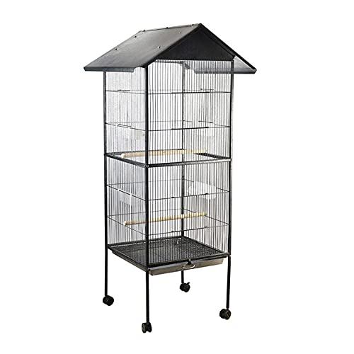 Parrot de jaulas de pájaros PET BIRD CAGE METAL ANCHO ALTO TALLE CAPACIDAD MULTIFUNCIÓN MULTIFUNCIONES DE ALIMENTACIÓN DIVERSIÓN FUERZA FÁCIL FÁCIL LUCHA LORROTS MACAW COCKATIEL NESTROS Suministros Pa