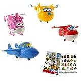 Lote 4 Figuras Super Wings - Jett Volando - Dizzy Volando - Donnie Voland - Jerome Volando + Regalo
