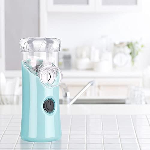 Medicina Portátil Nebulizador Silencioso Mini Inhalador De Mano For Niños Y Adultos USB Nebulizador De Nebulizador Recargable (Color : Blue)