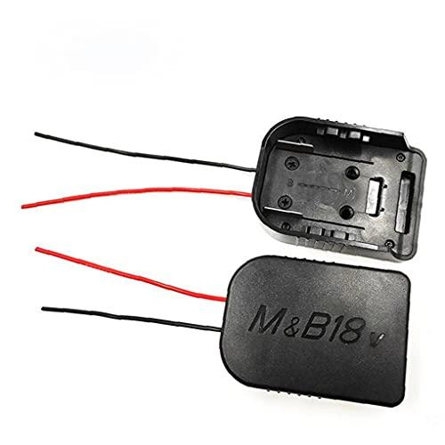 Li-Ion-Batterieadapter-Konverter Kompatibel mit Makita Bosch 14.4V 18V DIY Kabelanschluss Ausgang Elektronische Komponente Schwarz