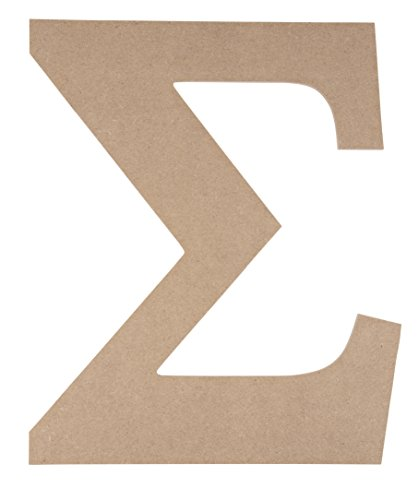 Juvale Unfinished Wooden Letters, Greek Letter Sigma (9.75 x 11.6 in.)