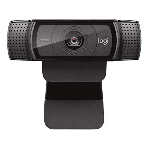 Logitech, C920e/C920 HD-Webcam, volle HD-Auflösung, 1080p-Video-Anruf und -Aufnahme, Dual Stereo Audio, Streamen von Spielen, schwarz (ohne Stativ)