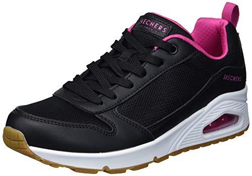 Skechers Uno Zapatillas Moda Mujeres Negro/Rosa - 37 - Zapatillas Bajas Shoes