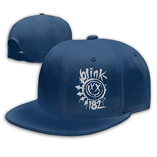 SBW Damen Herren Blink 182 Navy Baseball Hat Cap Baseballcap Kappe Flatbrim Snapback Mütze Für Jungen Mädchen