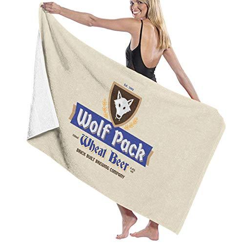 U/K Wolf Pack Toalla de baño de cerveza de trigo de secado rápido