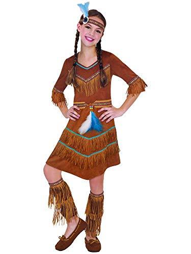 Amscan 997654 - Kinderkostüm Traumfänger, Kleid, Stirnband, Beinstulpen, Indianer
