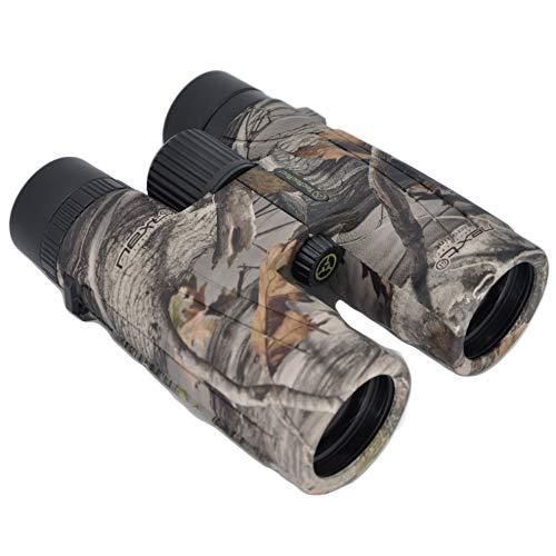 TecTecTec BPRO Wild 10x42 Binoculars Hunting Camo Outdoors Bird Watching HD Professional Binoculars for Bird Watching Travel Sports with Phone Mount Strap Carrying Bag