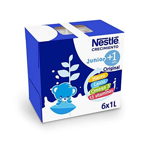 Nestlé Junior Junior Crecimiento 1 + 1 L 6530 g -Pack 6 bricks 1 litro