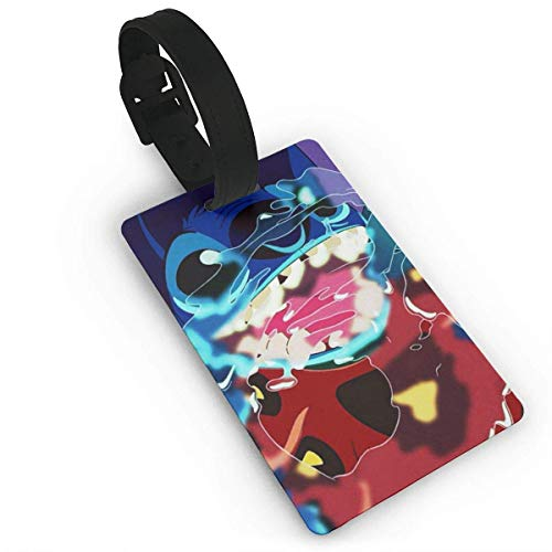 Stitch Art Luggage Tag Adjustable Strap Bag Baggage Name,Accessories Tags for Tourists