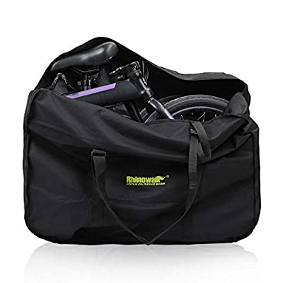 Pinprin Folding Bike Carry Bag 20 Inch Travel Bicycle Storage Bag Transport Case for for Mountain Bike