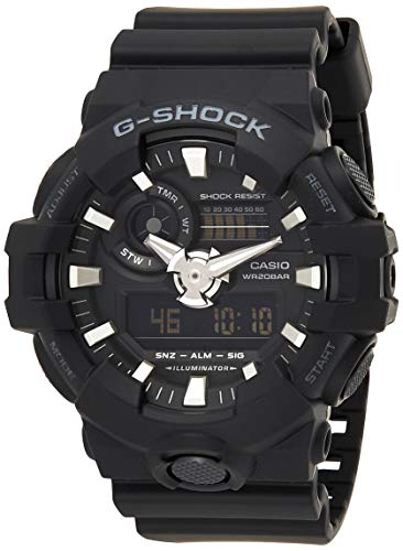 Casio G-SHOCK Orologio 20 BAR, Nero, Analogico - Digitale, Uomo, GA-700-1BER