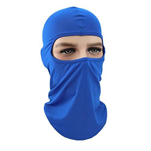 Pasamontañas,Pasamontañas Capucha Transpirable Máscara para Correr Senderismo Al aire libre Motocicleta Ciclismo Deportes-Azul