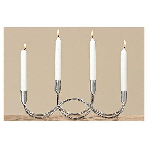 Kerzenleuchter Tapino, Rund, H 14,00 cm, L 38,00 cm, Eisen