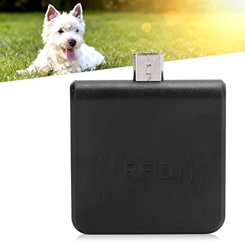 Lector de identificación móvil, Lector de Tarjetas telefónicas Plug and Play de Alta precisión para la gestión de Mascotas para la gestión de la cría de Animales(Black, Pisa Leaning Tower Type)