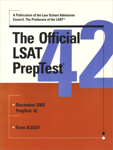 The Official LSAT PrepTest 42 (Official LSAT PrepTest)