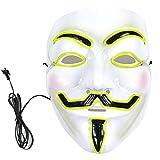 Mascara con LED de la pelicula V de Vendetta