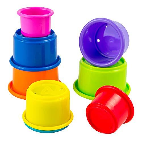 """Lamaze Baby Spielzeug """"Stapelbecher"""", Hochwertiges Kleinkindspielzeug, Lernspielzeug, Motorikspielzeug, Stärkung der Eltern-Kind-Beziehung, Geschenke zur Geburt, Baby Spielzeug, ab 6 Monate"""
