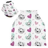Sinestour Fundas de asiento de coche para bebé, diseño de tigre con corazones, unisex, para silla alta, carrito de la compra, multiuso, para bebé, unisex