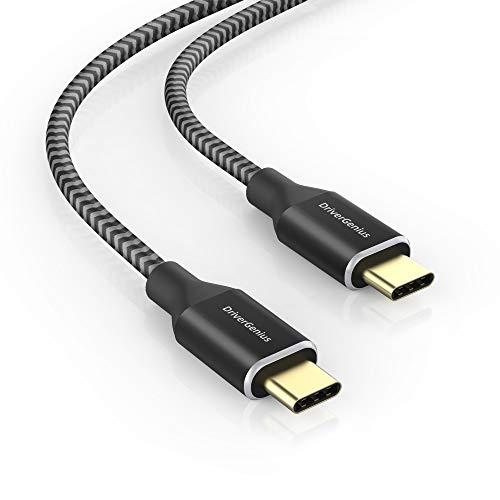 DriverGenius USB C auf USB C Kabel 60W Ladekabel - 4K @60Hz 5Gbps USB 3.1 Typ C Video Transfer Kabel, Schnellladekabel - kompatibel für MacBook, MacBook Air (1.8M)