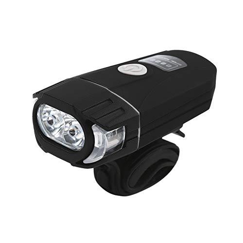Luz de bicicleta recargable USB Mango recargable USB 2 LED de 4 modos de 5W 500LM linterna de la bici MTB de montaña de la bicicleta barra de advertencia de la antorcha impermeable luces lámpara de bi